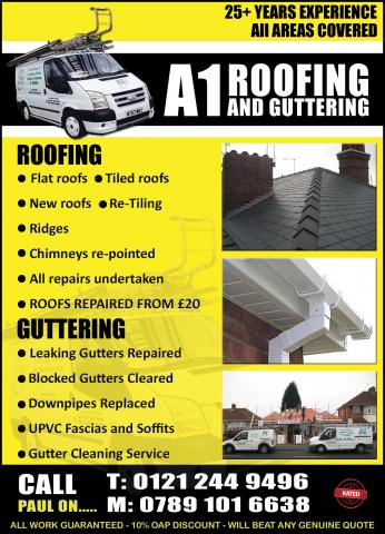 Rated Directories A1 Roofing Guttering